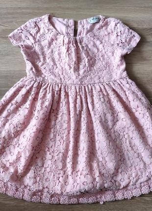 Кружевное платье розовая пудра пыльная роза