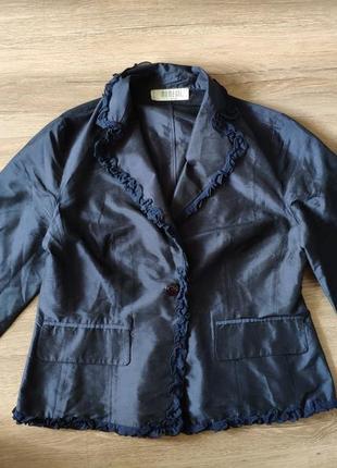 Шелковый шёлковый пиджак чесуча дикий шелк шёлк шовк 100% silk %