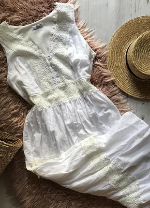 Белое коттоновое платье(xl)