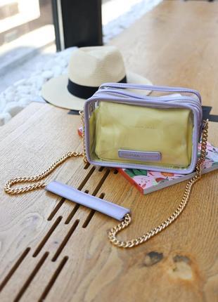 Жіноча стильна, прозора сумка