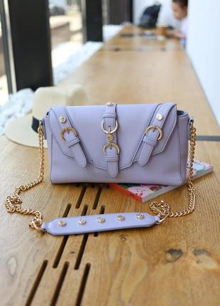 Жіноча сумка кольору лілак