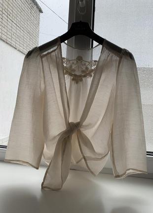 Блузка рубашка promod