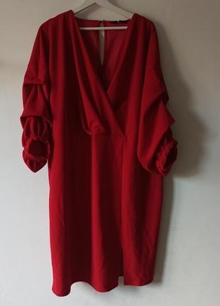 Шикарное яркое платье plus size батал