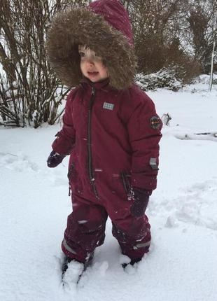 Зимний сдельный комбинезон для девочки  lego wear р.128+6