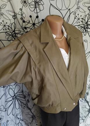 Кожаная куртка курточка 100%кожа,винтаж