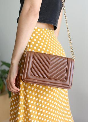 Ребриста жіноча сумочка