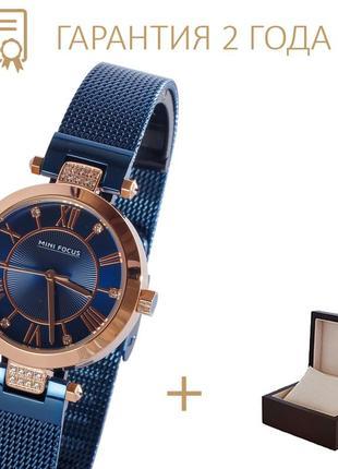 Часы мужские mini gold-blue/ новые/2 года гарантии/ с коробочкой