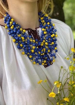 Українське етно намисто, буси, ідеально доповнює вишиванку, плаття, платье