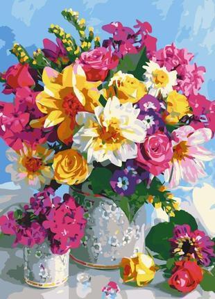 """Картина по номерам art craft """"цветочная радуга"""" 40*50 см 12114-ac"""
