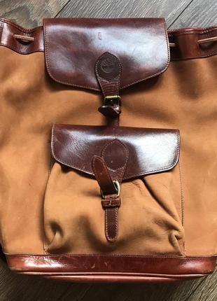 Timberland рюкзак кожа нубук унисекс винтаж