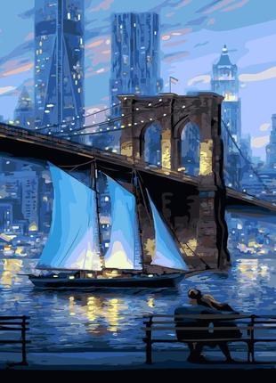 "Картина по номерам brushme - ""ночной нью-йорк"" 40*50 gx21605"