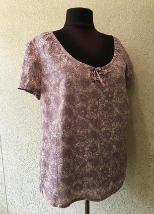 Чудесная женская батальная коттоновая футболка/футболочка/блуза большого размера