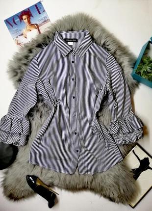 Летняя блуза с рукавами волнами patrizia dini люкс дизайнерская лето 2020