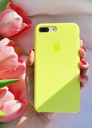 Чохол на айфон у лимонному кольорі