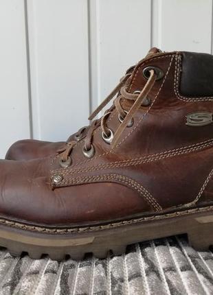 Ботинки кожаные фирмы skechers оригинал