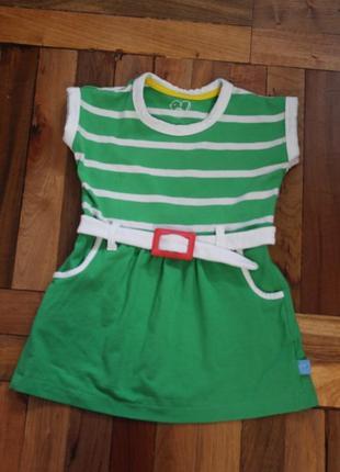 Трикотажное платье  на девочку 9-12 месяцев в идеальном состоянии