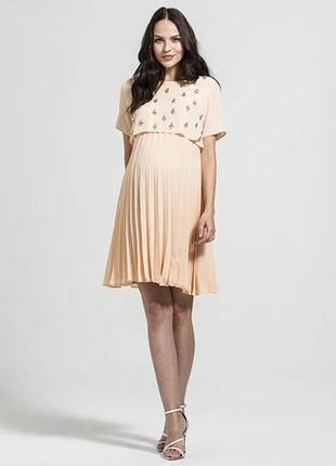 Персиковое коктейльное платье rock a bye rosie однотонное