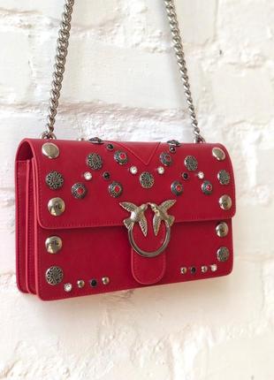 ❤️кожаная женская сумка, через плечо pinko❤️