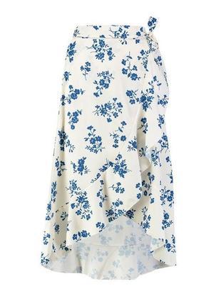 Трендовая юбка миди с запахом
