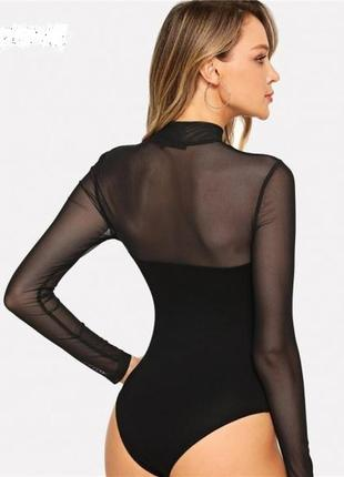 Черное боди рубашка.select.