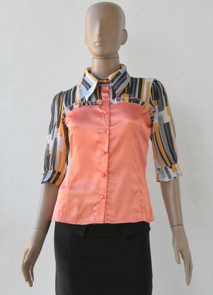 Оригінально пошита блузка 42-48 розміри (36-42 євророзміри).