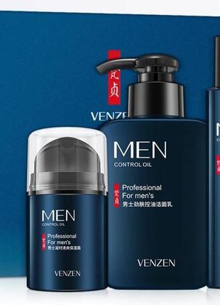 Venzen men набор косметики для мужчин  в подарочной упаковке 3 предмета