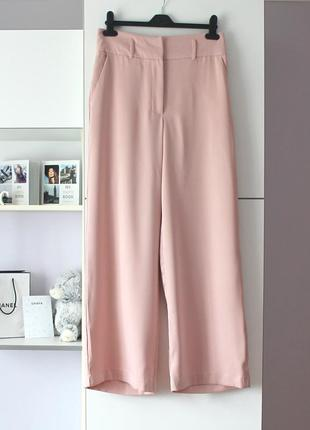 Розовые широкие брюки от new look
