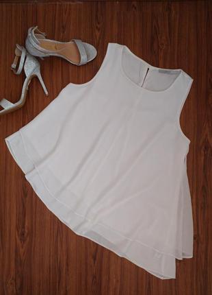 Ассиметричная шифоновая блуза