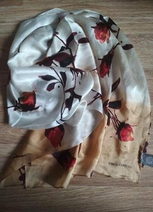 Шелковый шарф бренда vince camuto