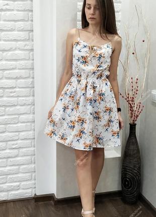 Сарафан мини, летнее платье