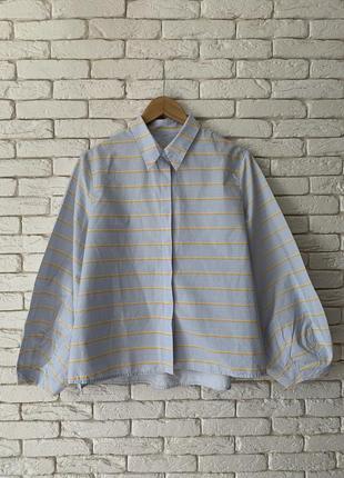 Хлопковая рубашка-блуза