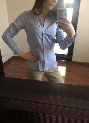 Сорочка / рубашка в деловом стиле, в офис, под костюм