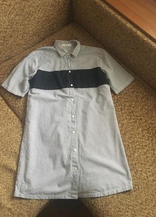 Полосатое платье рубашка