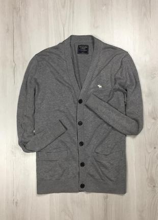F8 кардиган abercrombie&fitch кофта фитч мужская серая накидка свитер