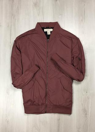 F9 бомбер коралловый h&m кофта куртка мужская бордовая красная фирменная