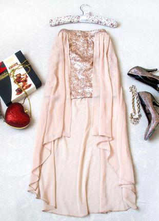 Ассиметричная комбинированная юбка от river island, размер 10 , см. замеры