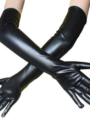 Перчатки имитация кожи