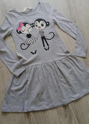 Тонкое хлопковое платье h&m