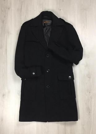 F9 шерстяное пальто черное ben sherman курточка мужское черное пальто фирменное большое