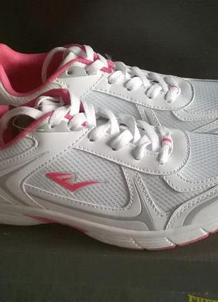 Кроссовки everlast новые белые беговые для фитнеса стелька 26 см