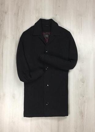 F9 темно-серое пальто next мужское куртка курточка фирменная длинное пальто