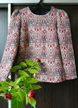 Шикарная кофта свитер цветы от zara.натуральный состав.