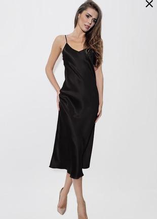 Шелковое платье-майка