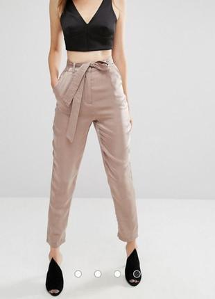 Красивые брюки под шелк, брюки с высокой посадкой