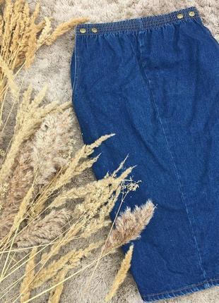 Юбка базовая миди джинс