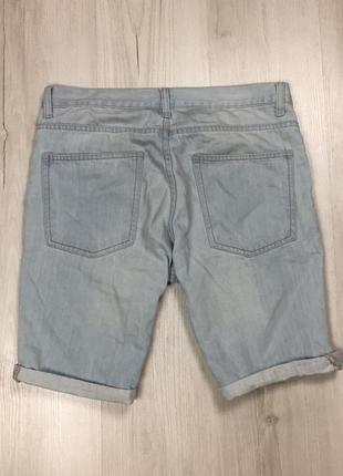 N9 джинсовые шорты f&f шорты мужские светлые крутые фирменные