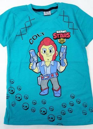 Детская футболка для мальчика brawl stars 8-12 лет 4300-1