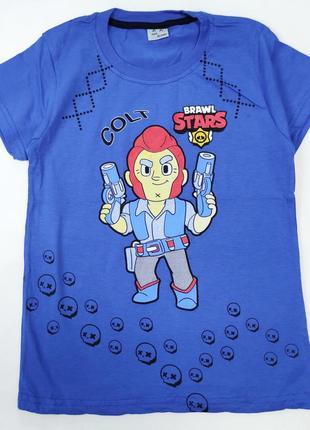 Детская футболка для мальчика brawl stars 8-12 лет 4300-2