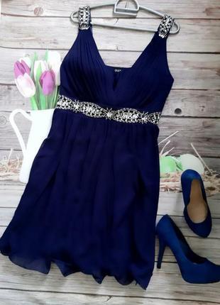 Стильное нарядное платье шифоновое