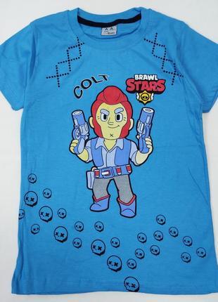 Детская футболка для мальчика brawl stars 8-12 лет 4300-3